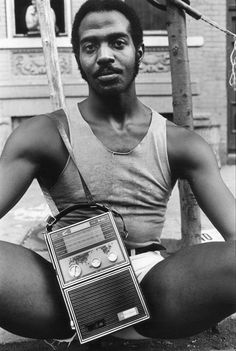 Guy with Radio, East 7th St, 1977. By Arlene Gottfried.