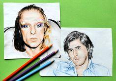 Roxy Music art - Bryan Ferry & Brian Eno