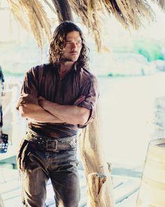 Luke Arnold as John Silver (Black Sails)