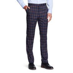 Men's Big & Tall Suit Pants Navy (Blue) 3