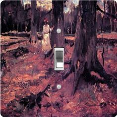 """Rikki KnightTM Van Gogh Art Girl in White in the Woods - Single Toggle Light Switch Cover by Rikki Knight. $13.99. The Van Gogh Art Girl in White in the Woods single toggle light switch cover is made of commercial vibrant quality masonite Hardboard that is cut into 5"""" Square with 1'8"""" thick material. The Beautiful Art Photo Reproduction is printed directly into the switch plate and not decoupaged which make these Light Switch Plates suitable for use in any room in th..."""