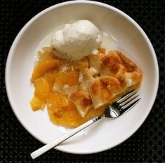 Top Crust Peach and Cardamom Pie with Cardamom-Vanilla Ice Cream