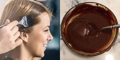 Hair dye contains many harmful chemicals and can really damage your hair. However, studies show that of women will dye their hair anyways. Instead of using toxic hair products, try these natural h… Color Your Hair, Hair Color Dark, Natural Skin, Natural Makeup, Pelo Cafe, Galaxy Makeup, Different Hair Colors, Face Wrinkles, How To Make Hair