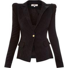 Sophie Hermann Black Suede Jacket - Polyvore