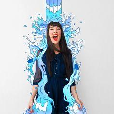 Lauren Carney, mejor conocida como Dizzy Little Dotty es una ilustradora originaria de Brisbane, Australia que ha llamado bastante nuestra atención gracias a una serie de fotografías que ha publicado en su cuenta de Instagram donde combina autorretratos con