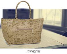 Enjoy Weekend! Struzzo Duo Deserto leather handbag by Toscannia www.toscannia.com