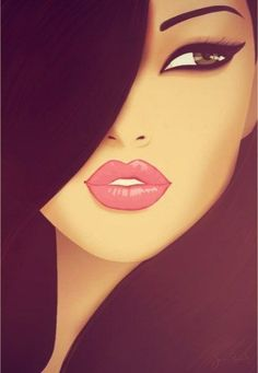 cool I like it. The lips and eye. It reminds me a doll or something. She's gorgeous....
