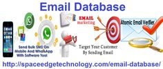 Our #emaildatabase contains 160 million clean email records with the highest level of deliverability @spaceedgetech