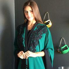Black lace on Emerald