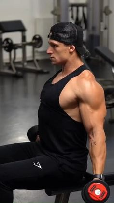 Push Workout, Gym Workout Chart, Gym Workout Videos, Gym Workout For Beginners, Dumbbell Workout, Gym Workouts, Shoulder Workout Routine, Workout Routine For Men, Shoulder Workout Bodybuilding