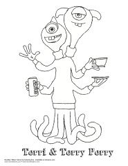 Monsters University coloring page--Terri & Terry Perry
