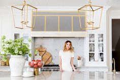 Ivory Lane Kitchen Reveal: Custom stainless and brass hood