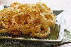 Low Fat Baked Onion Rings. Soak in buttermilk, coat with panko, bread ...