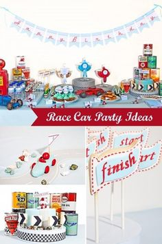 Vintage Race Car Birthday Party Idea
