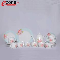 Buy 24 Piece Tea Set ( Pink Flower Designed )