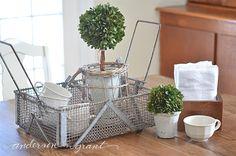 anderson + grant: My New Vintage English Fishing Basket