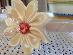 Ivory headband with pearls first communion swaroski by 3BusyBirds, $18.00