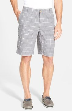 Men's Big & Tall Tommy Bahama 'Sorrento Square' Flat Front Linen Shorts