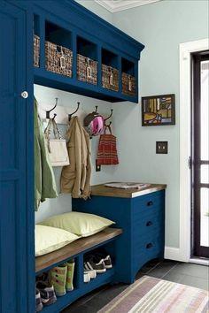 Best DIY Entryway Mudroom Bench Makeover Ideas - Page 17 of 80 Entryway Storage, Entryway Bench, Storage Spaces, Shoe Storage, Hall Bench With Storage, Shoe Racks, Entryway Ideas, Storage Ideas, Hallway Decorating