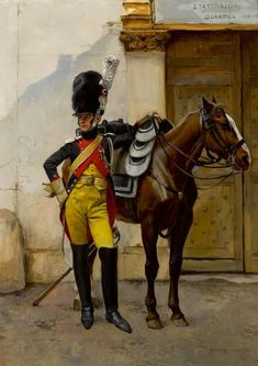 FRANCOIS FLAMENG (FRENCH, 1856-1923). AN ELITE SOLDIER OF THE IMPERIAL GUARD.