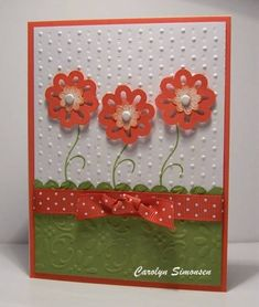 IC298 by snowmanqueen - Cards and Paper Crafts at Splitcoaststampers Blossom Bouquet Triple Layer Punch
