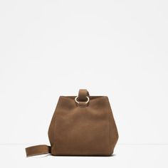 LEATHER BUCKET BAG from Zara