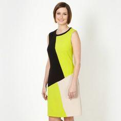 Petite lime colour block tunic dress at debenhams.com