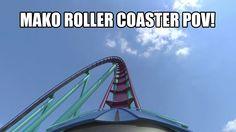 Mako Roller Coaster POV SeaWorld Orlando 2016 - B&M Hyper Coaster