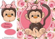 Gorgeous Monkey With Bow by Amy Perry Gorgeous Monkey With Bow in gorgeous floral frame, also has decoupage and choice of sentiment… Card Printing, Decoupage Ideas, Quick Cards, Monkey, Amy, Minnie Mouse, Disney Characters, Fictional Characters, Card Making