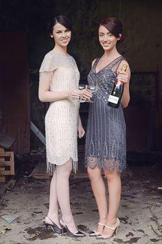 4. Great Gatsby Bridesmaids... - 8 Fun Ideas for a Great Gatsby Themed Wedding ... → Wedding