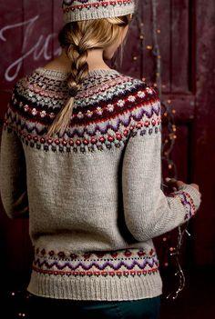Norsk sweater i julefarver.
