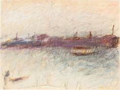 """""""Venice Off Season,"""" Wolf Kahn, pastel on paper, 9 x 12"""", private collection."""