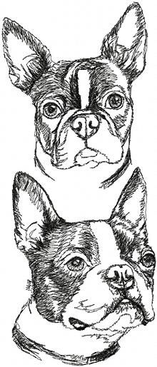 Set of 2 Machine Embroidery Designs