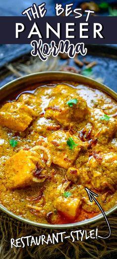 Korma Recipe Indian, Paneer Korma Recipe, Paneer Curry Recipes, Masala Recipe, Kootu Recipe, Chicken Korma Recipe, Paneer Dishes, Veg Dishes, Veg Recipes