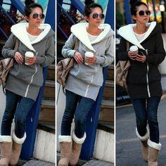 New Womens Oversized Hoodies Jacket Ladies Long Zipper Outwear Coat Plus Size 6-20. Color: Black / Dark Grey / Light Grey. Occasion: Casual. Design: Zipper. Light Grey. Details Show. Dark Grey. Product Show. | eBay!