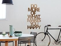 Wandsticker Kupfer DO MORE OF WHAT MAKES YOU HAPPY