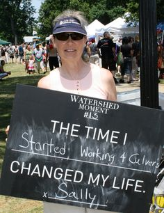 Sally shared her Watershed Moment with us at ComFest.