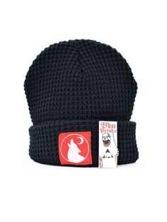 Wolf Moon Waffle Knit Beanie, By Ben Prints On Etsy