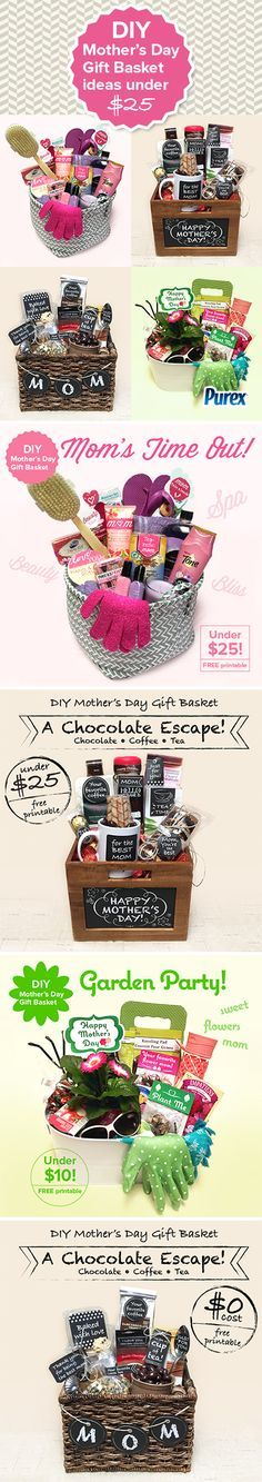 Mothers Day homemade gift basket ideas