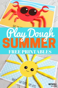 Play Dough Mats are an awesome play activity for kids and helps with both fine motor skills and imagination. Here's some fun summer themed play dough mats - repinned by @PediaStaff – Please Visit ht.ly/63sNt for all our pediatric therapy pins
