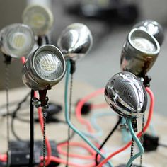 LIGHT UP: bicycle parts desk lamp by The Upcycle   Please subscribe to my weekly newsletter at upcycledzine.com !#upcycle