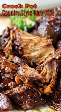 Crock Pot Country Style Pork Ribs - Great Grub, Delicious Treats