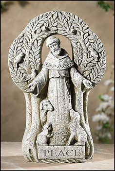 Saint Francis Peace tree statue for Garden or Home. Long revered for his humble nature, and his special connection with nature and with animals, Saint Francis was the ultimate environmentalist. We hav