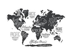 Whimsical World Map by Jessie Steury for Minted