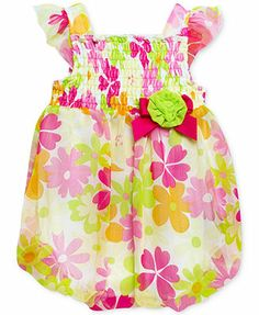 Baby Essentials Baby Girls' Floral Bubble Romper