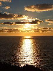 Sun set Cornwall