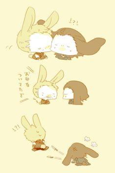 Thor & Loki Bunny || Cr: 柑橘