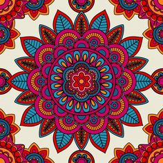Illustration about Mandala boho hand drawn seamless pattern. Illustration of fashion, drawn, mandala - 75610858 Mandala Design, Mandala Pattern, Pattern Art, Boho Pattern, Mandala Canvas, Mandala Artwork, Mandala Painting, Mandala Art Lesson, Mandala Drawing