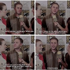 Hitting a Blind Guy. FitzSimmons 2015 SDCC Marvel's Agents of S.H.E.I.L.D.