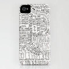 sopa de letras iPhone Case by Mariana Beldi - $35.00